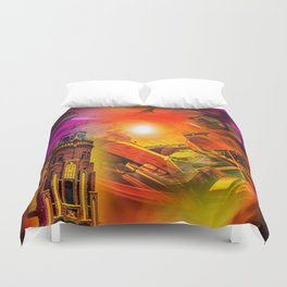 Lighthouse romance Duvet Cover