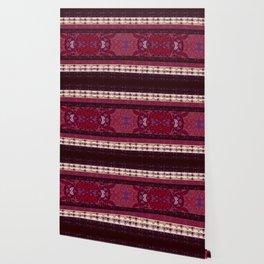 Patterns in Maroon - by Fanitsa Petrou Wallpaper