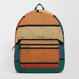 Retro colors 70s palette lines Backpack