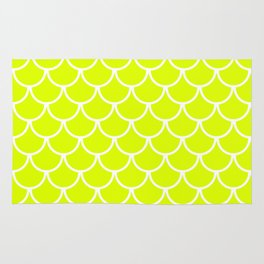 Chartreuse Fish Scales Pattern Rug