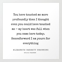 31    | 200210 | Elizabeth Barrett Browning Quotes Art Print