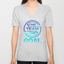 One Team One Goal bt Unisex V-Neck