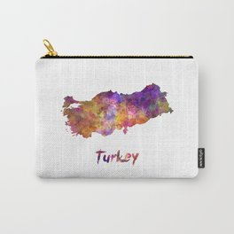 Turkey in watercolor Carry-All Pouch