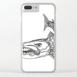 Barracuda Fish Doodle Art Clear iPhone Case