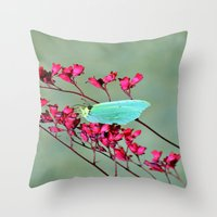 butterfly Throw Pillows featuring butterfly by  Agostino Lo Coco