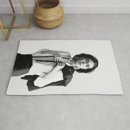 Frida Kahlo Wearing White Shirt Rug