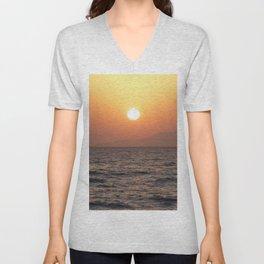 Sunrise at Tiran Island Unisex V-Neck