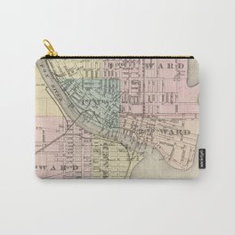 Vintage Map of Oshkosh WI (1878) Carry-All Pouch