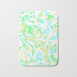 Blue, Yellow, and Green Mosaic Bath Mat