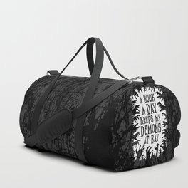 A Book A Day Keeps My Demons At Bay Duffle Bag