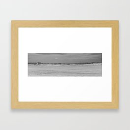Dunes of Assateague Island (black and white) Framed Art Print