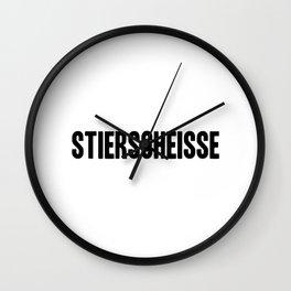 Stierscheisse   German Bullshit - Logotype Wall Clock