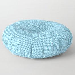 Oktoberfest Bavarian Blue Mini Houndstooth Check Floor Pillow