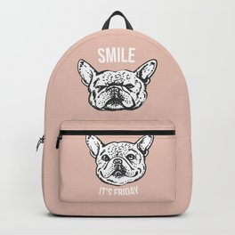 Smile It's Friday Frenchie Backpack