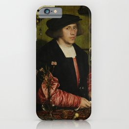 Hans Holbein the Younger - The Merchant Georg Gisze iPhone Case