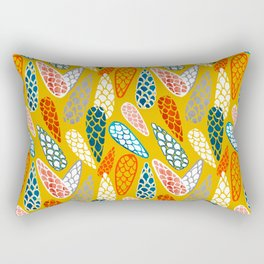 Colored Cone pattern Rectangular Pillow