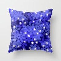 fireflies Throw Pillows featuring Fireflies by Heleen van Buul