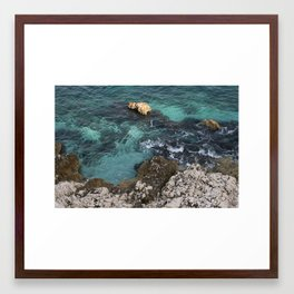 Blue Green Sea Framed Art Print