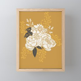 Glam Florals - Gold Framed Mini Art Print