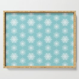 Frosty Snowflakes Serving Tray