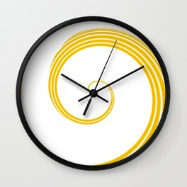 Yellow Fire 2 Abstract Art By Saribelle Rodriguez Wall Clock