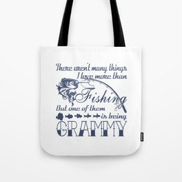 Fishing Grammy Tote Bag