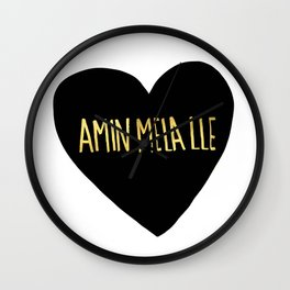 "Amin Mela Lle: ""I Love You"" in Elvish Wall Clock"