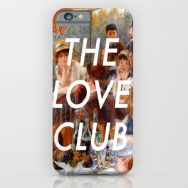 Luncheon with the Love Club iPhone Case