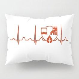 Urban Planner Heartbeat Pillow Sham