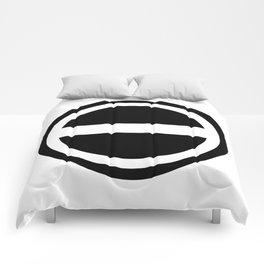Curtis Holt Logo (Black) Comforters