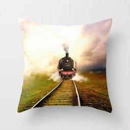 Chuu Chuu Train Throw Pillow