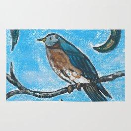 Bird on a branch Rug