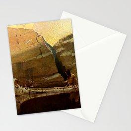 "N C Wyeth Vintage Western Painting ""Birch Bark Canoe"" Stationery Cards"