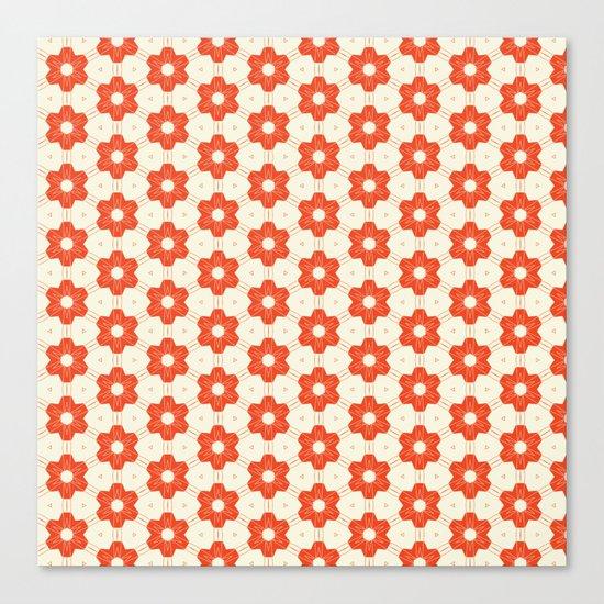 Retro Red Flower Canvas Print