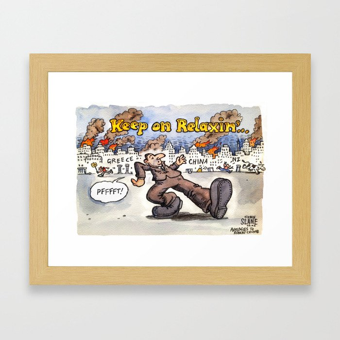 Keep on Relaxing John Key Framed Art Print