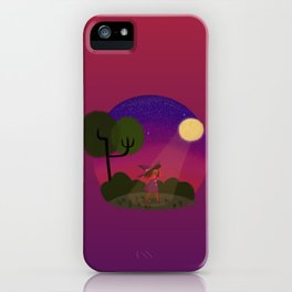 Little Witch Print iPhone Case