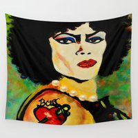 frank Wall Tapestries featuring Frank by FreeBird Studios