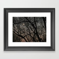ghost moon Framed Art Print