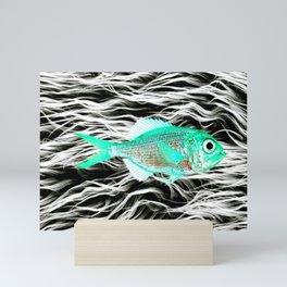 Fish on Fur V Mini Art Print