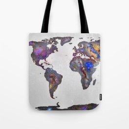 Stars world map Tote Bag