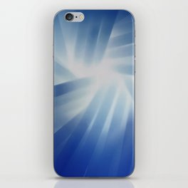 Blue Streaks of Light iPhone Skin