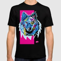Lazer Wolf 2X-LARGE Mens Fitted Tee Black