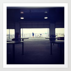 North Ave Beach Silhouette Art Print