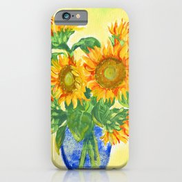 Painted Sunflowers iPhone Case
