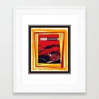 mini cooper Framed Art Prints featuring Mini Cooper by elkart51