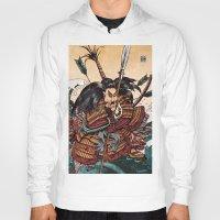 samurai Hoodies featuring Samurai by RICHMOND ART STUDIO