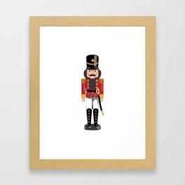 Christmas nutcracker soldier Framed Art Print