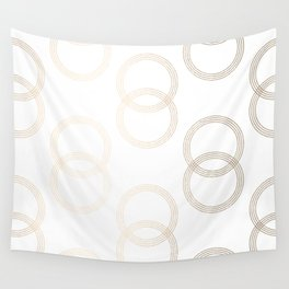 Simply Infinity Link in White Gold Sands on White Wall Tapestry
