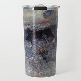 Small blue crystal Cave Geode Travel Mug