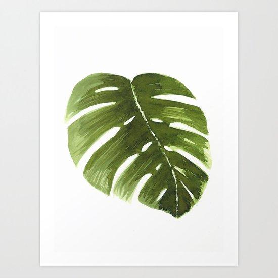 Nature leaves I monstera Art Print